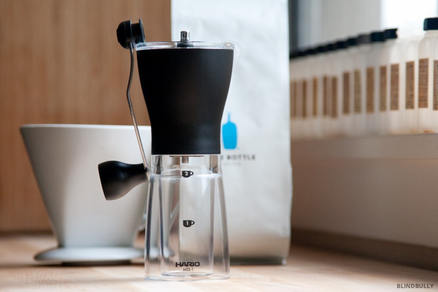 The Hario Mini Slim Coffee Grinder